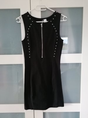 H&M Divided Stretch Dress black-silver-colored cotton
