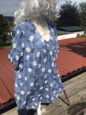 Made in Italy Sukienka boho chabrowy-biały