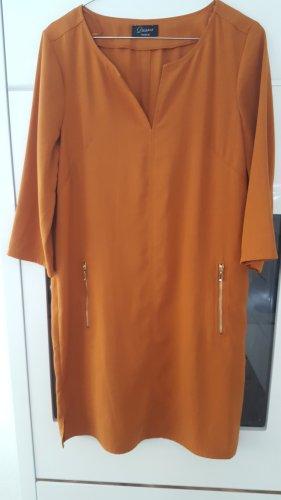 Dresses Unlimited Abito blusa camicia cognac-arancione scuro