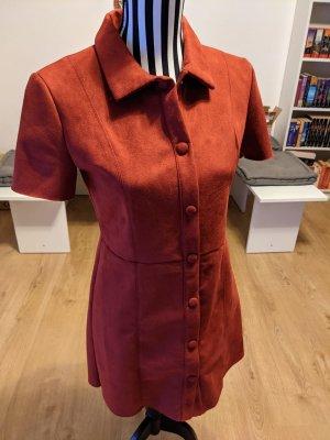 Zara Robe courte rouge foncé