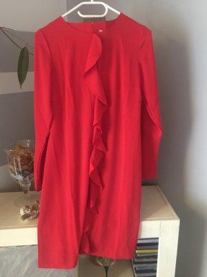 Heine Vestido camisero bermejo-rojo oscuro