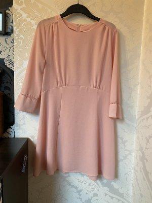 Tolles Kleid In Rosé 3/4 Arm neu Gr 42