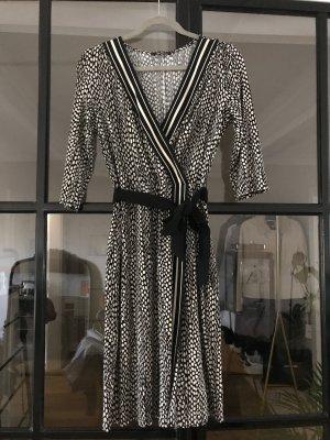 Vera Mont Vestido cruzado crema-negro