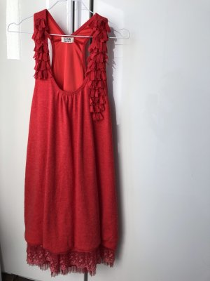Molly bracken vestido de globo rojo ladrillo