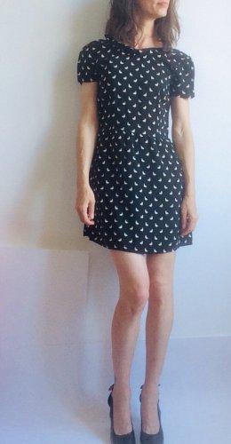 Atmosphere Sukienka z krótkim rękawem czarny-biały