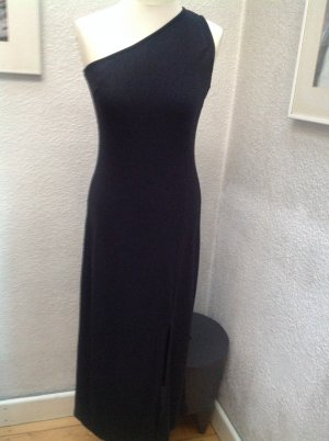 Cartoon One Shoulder Dress black cotton
