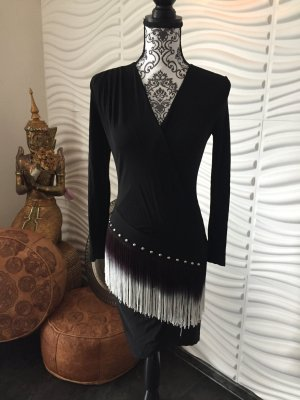 Cavalli Evening Dress black mixture fibre