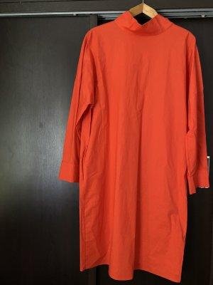 COS Vestido de manga larga rojo-rojo ladrillo