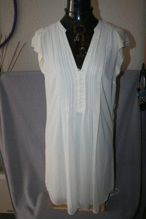 H&M Abito blusa camicia crema Poliestere