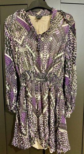 Just cavalli Robe à manches longues violet foncé-crème
