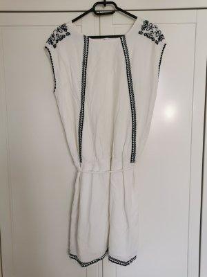 Promod Sukienka boho biały-ciemnoniebieski