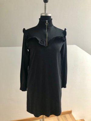 Tolles Kleid von Scotch & Soda, schwarz mit Volant, Gr. XS