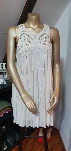 Zara Sukienka dresowa w kolorze białej wełny