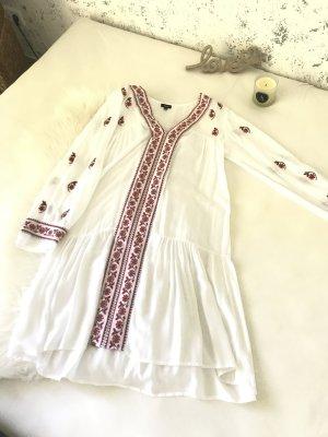 Anmol Vestido tipo túnica blanco-rojo