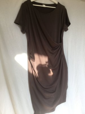 -8- Venice Shortsleeve Dress light brown polyester