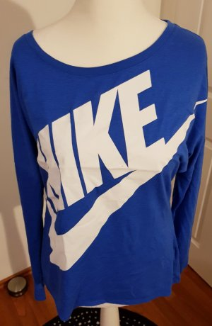 Nike Sweat Shirt white-neon blue