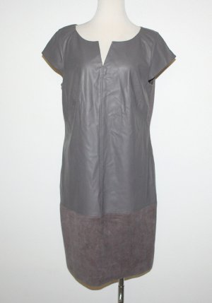 Comma Leather Dress grey brown mixture fibre