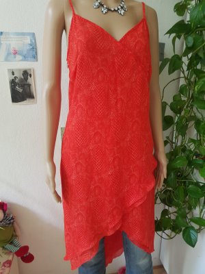 Apart Summer Dress red-brick red polyester