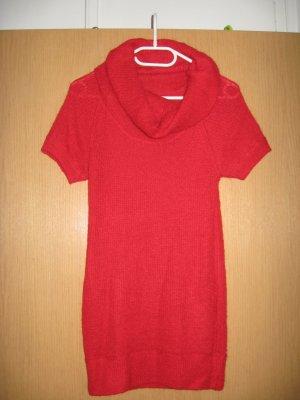 Tolles Longshirt/Kurzkleid in rotem Strick