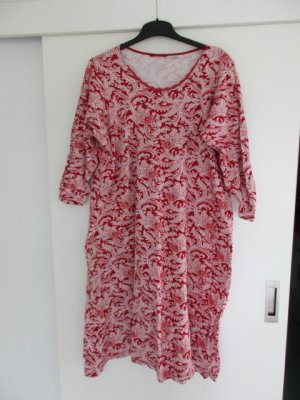 Lands' End Robe de chambre rouge-blanc