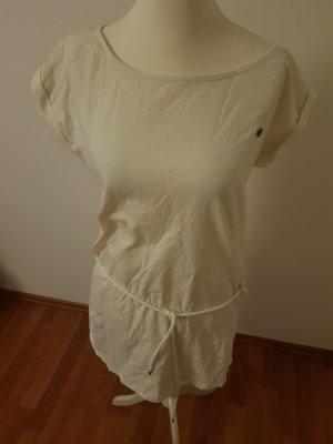 Olymp & Hades Vestido de tela de sudadera blanco puro