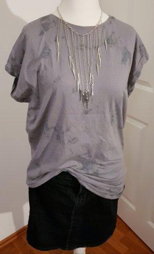 EMP Camisa holgada gris claro-gris antracita