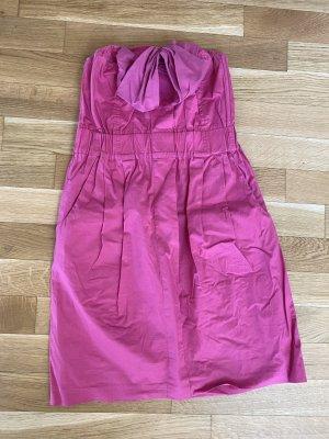 Tolles pinkes trägerloses Kleid / Sommerkleid mit Schleife von Fonarina! In Mailand/Milano gekauft!