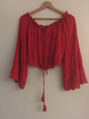 Amisu T-shirt court rouge brique