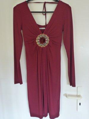 Divina Longsleeve Dress dark red viscose