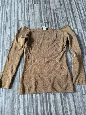 H&M Carmen shirt oker-zandig bruin