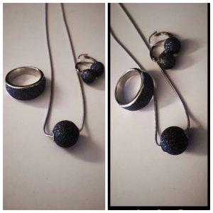 Chaîne en argent argenté-gris anthracite