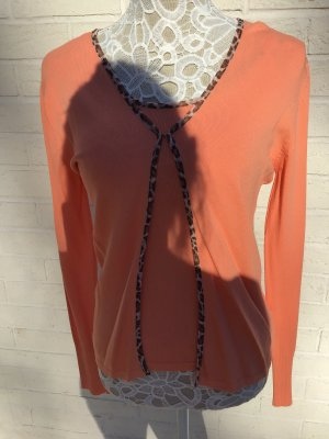 Knitted Twin Set apricot-cognac-coloured