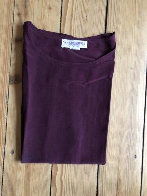 Blusa in seta rosso mora