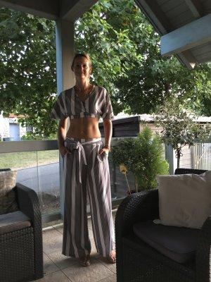 Marlene Trousers white-black polyester
