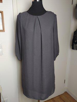 Tolles Shift-Kleid H&M grau, gefüttert, S/36