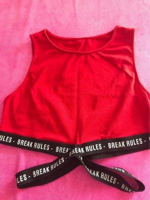 0039 Italy Wraparound Shirt red cotton