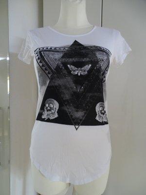 Tigha Print Shirt white-black