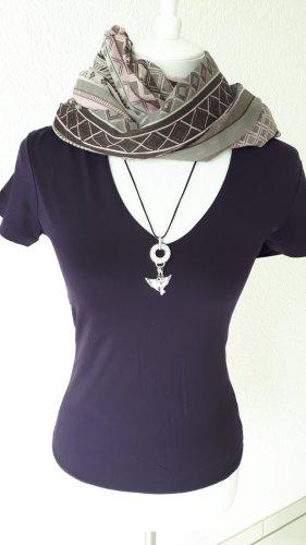 Zero T-shirt col en V violet foncé
