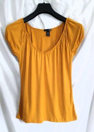 H&M Camiseta naranja dorado Viscosa