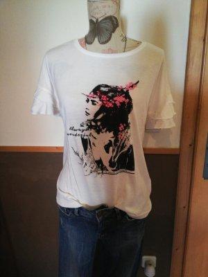 tolles Shirt weiß mit Motiv M