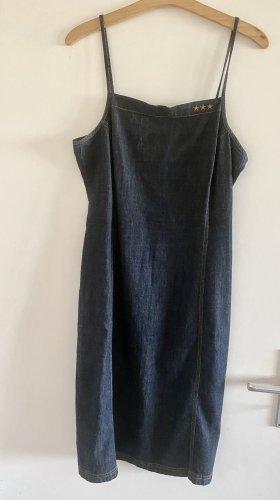 H&M Divided Jeansowa sukienka ciemnoniebieski-beżowy
