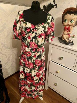 Tolles Sommer Maxi Kleid blumig floral Gr 40 neu