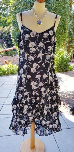 tolles Sommerkleid schwarz mit Blumen Gr. 42