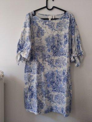 H&M Sukienka o kroju koszulki biały-niebieski