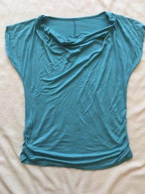 Koszulka z dekoltem woda jasnoniebieski