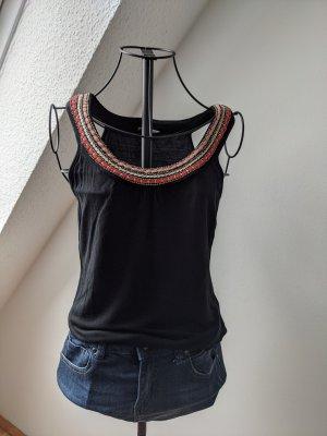 Orsay Carmen Shirt black-red viscose