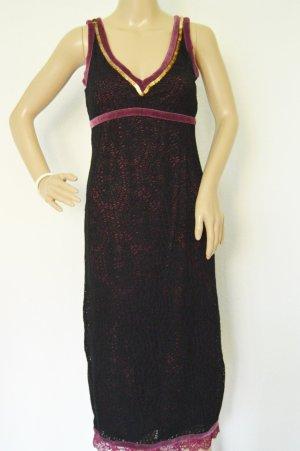 KAREN MILLEN Vestido negro-púrpura