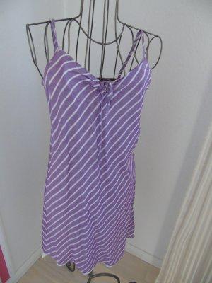tolles Strandkleid von Esprit, vorne mit Schleife, lila weiß gestreift, Spaghettiträger