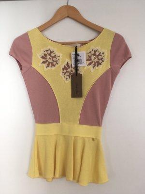 Betty Blue Camicia maglia rosa pallido-giallo pallido