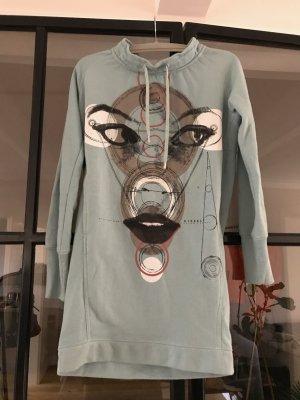 Diesel Robe Sweat gris vert-bleu pâle